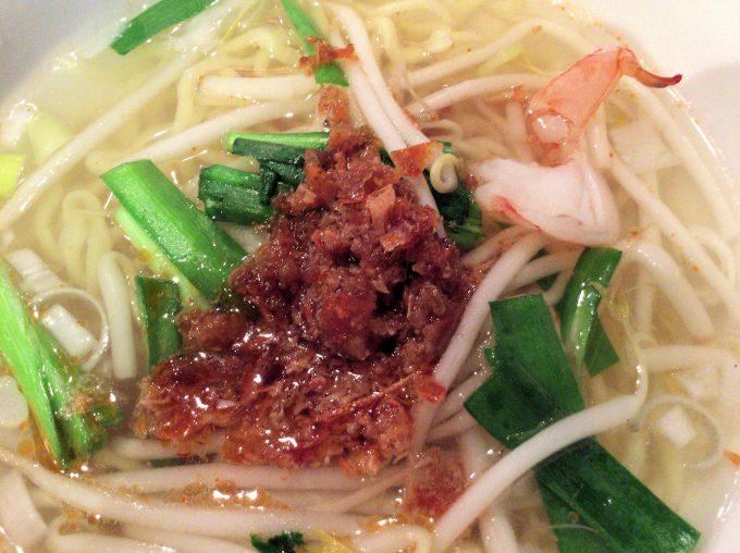 麒麟中華大食堂の担仔麺の具