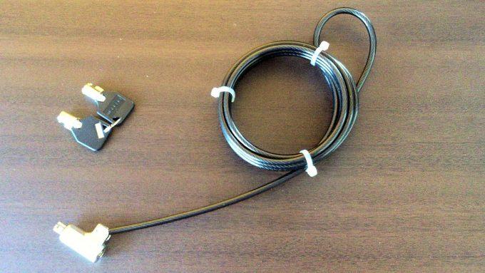 セキュリティワイヤーESL-7Uと鍵