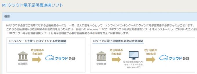 MFクラウド電子証明書連携ソフト