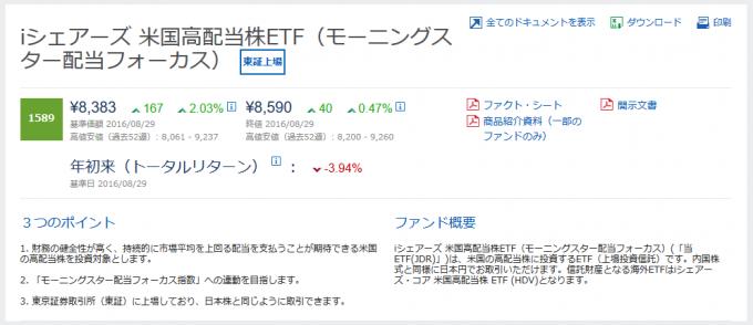 iシェアーズ米国高配当株ETF