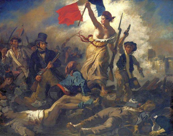 民衆を率いる自由の女神