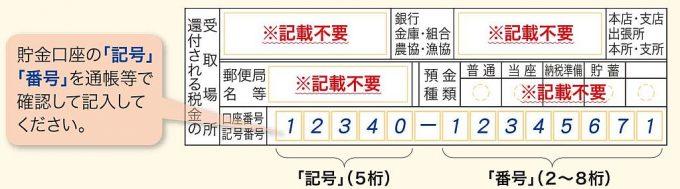 郵便局口座の記入方法
