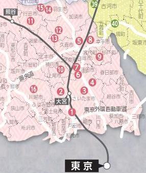 関東信越酒蔵マップ埼玉県